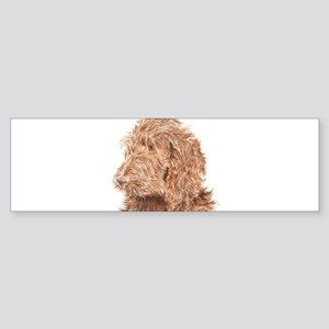 Chocolate Labradoodle 5 Sticker (Bumper)